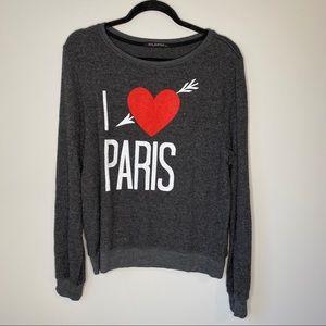 Wildfox I Love Paris Soft Crewneck Sz Medi…
